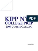 KIPP NYC College Prep Course Catalog 2009