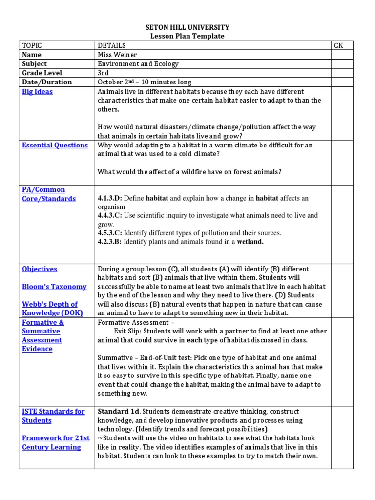Best Eats Lesson Plan Template Contemporary Example Resume And - 21st century lesson plan template