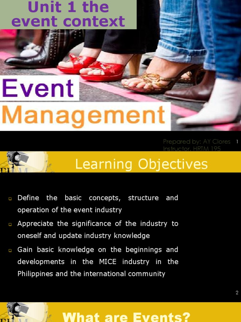 significance of event management