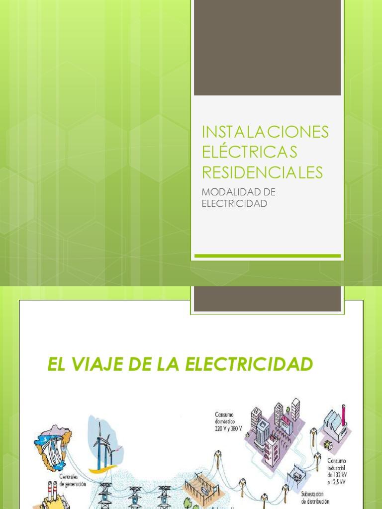 Circuito Que Recorre La Electricidad Desde Su Generación Hasta Su Consumo : Instalaciones elÉctricas residenciales teoria ppt