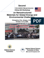 Second US-China Workshop on Nanostructured Materials for Global Energy and Environmental Challenges
