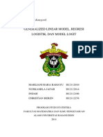 Generalized Linear Model, Regresi Logistik, dan Model Logit untuk Data Kategorik beserta contoh