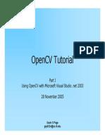 OpenCVTutorial I