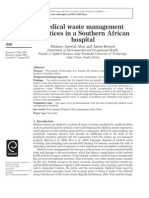 Medical Waste Management Practices in a Southern African Hospital