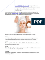 Cara Membuat Masker Buah Untuk Kulit Wajah Lebih Cerah