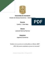 """""""Análisis de los precios de combustibles en México 2007-2013"""
