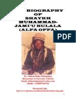 THE BIOGRAPHY OF  SHAYKH MUHAMMAD-JAMI'U BULALA (ALFA OFFA)