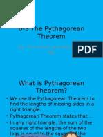 6-3 the Pythagorean Theorem