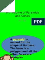6-7 Volume of Pyramids and Cones