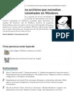 Cómo eliminar los archivos que necesitan permisos de administrador en Windows _ eHow en Español.pdf
