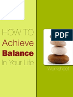How to Achieve Balance in Your Life Worksheet