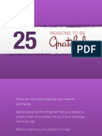 25 Reasons to Be Grateful
