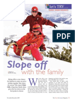 Family Skiing Holidays Feature the Travel & Leisure Magazine November 09