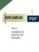 FUNDAMENTALS OF WORK STUDY AND ERGONOMICS