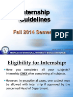 Internship Guidelines Fall 2014 Aiub