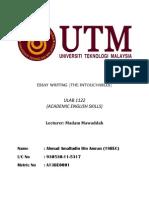 Ulab 1122 (Essay) - Ahmad Amalludin