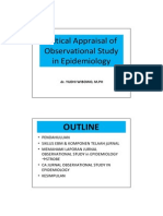 Critical Appraisal of Epidemiological Study.pdf