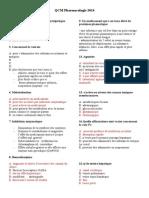 Pharmaco Qcm Corrigé (1)