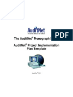 AuditNet Monograph Series Project Implementation Plan Template 2012