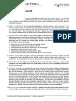Strengths Assessment - Self Assessment