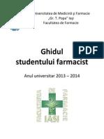 Ghidul Studentului Farmacist 2013 2014