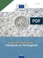 European Enterprise Promotion Awards Compendium 2014 in Swedish