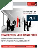 OBIEE11g Deployment & Change Management Best Practices