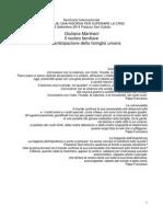 IT - Prof. Giuliana Martirani - Il Nucleo Familiare Come Anticipazione Della Famiglia Umana