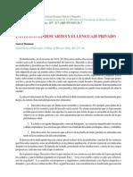 Las dudas de Descartes y el lenguaje privado. Thompson.pdf