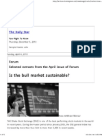 Is the Bull Market Sustainable