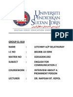 English Assignment - Interview Report