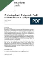 Erich Auerbach à Istanbul