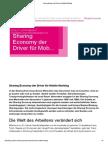 """09/2014 """"T-Systems Blog """"Sharing Economy der Driver für Mobile Working"""""""