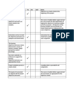 rubric standards for equivalency