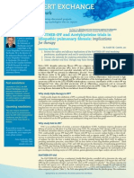 PANTHER-IPF and Acetylcysteine trials in idiopathic pulmonary fibrosis; Existing and new treatment options for IPF
