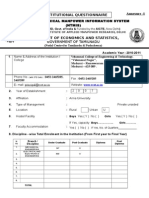 Annexure-I 2010-11 Institutional Questionnaire-Engg (1)