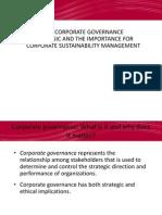 CSM Corporate Governance