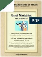 Emet Commandments