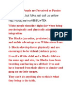 Why White People Are Perceived as Pussies