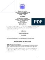 Medford City Council Agenda October 7, 2014