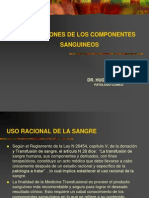 INDICACIONES  COMPONENTES SANGUINEOS.ppt