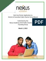 Nexus Academy of DC PCS Application 312013