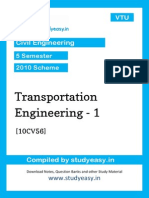 Civil v Transportation Engineering Unit 1,2,3,4,5,6,7,8