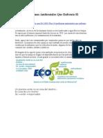 LOS 10 Problemas Ambientales Que Enfrenta El Planeta.doc