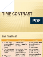 Time Contrast; present, past, future.ppt