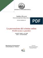 La prevenzione del crimine online Profili tecnici e giuridici.