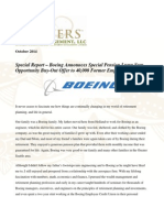 Special Report - Boeing Announces Special Pension Lump Sum Opportunity Buy-Out Offer to 40,000 Former Employees - Gevers Wealth Management LLC - 2014-10