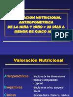 CLASE VALORACIÓN NUTRICIONAL EN NIÑO MENOR CINCO AÑOS - II PARTE 2012-II.ppt