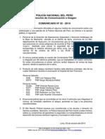 COMUNICADO PNP Nº 32 - 2014