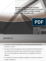 PPT on partial replacement of sand and aggregate